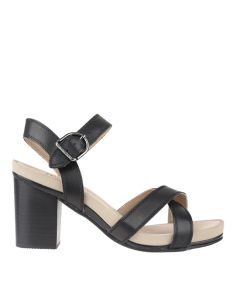 Hush Puppies Mariska Buckle Qtr In Black