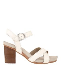 Hush Puppies Mariska Buckle Qtr In White