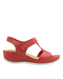 Hush Puppies Audrey Wanda T-Bar In Red