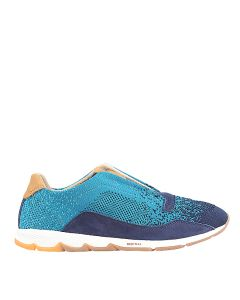 Hush Puppies Cesky Knit Elastic In Blue