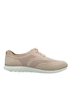 Hush Puppies Tricia Wingtip In Nude Pink