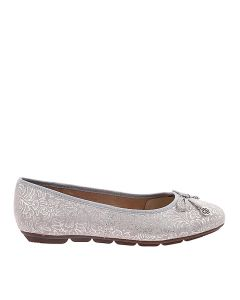 Hush Puppies Abby Bow Ballet In Silver