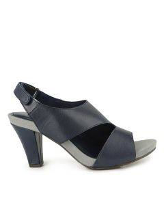 Hush Puppies Cornelia Sling Back In Navy